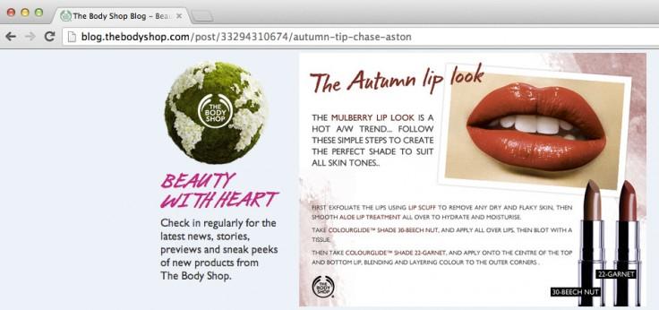 Blog van de Body Shop