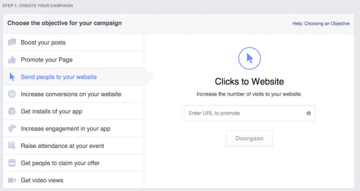 Facebook doel campagne