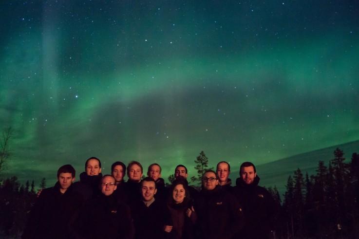 Team in het noorderlicht