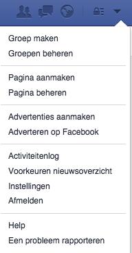 Facebook instellingen