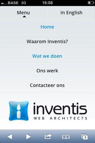 Natigatie Inventis website