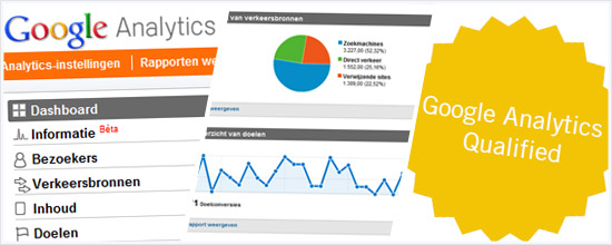 We zijn Google Analytics Qualified