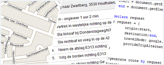 Google Maps API V3 routebeschrijvingen